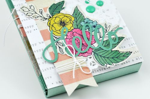 Hello Sizzix Die Cut Pocket Mini Album