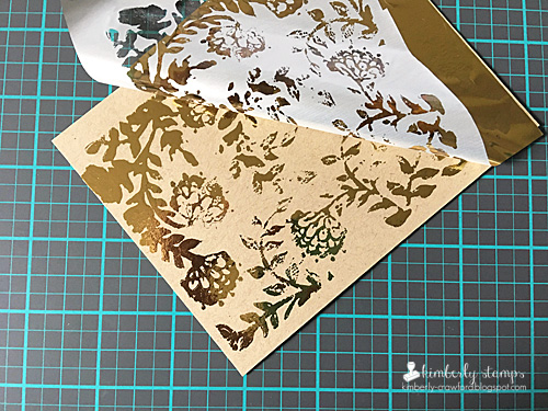 Kimberly Crawford 1 stamp 3 ways stamping and foiling 3