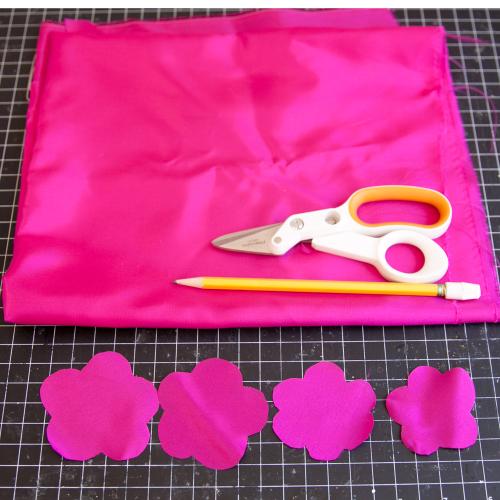 Fabric flower Step 1