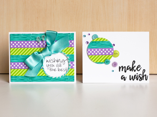 Washi cards circle