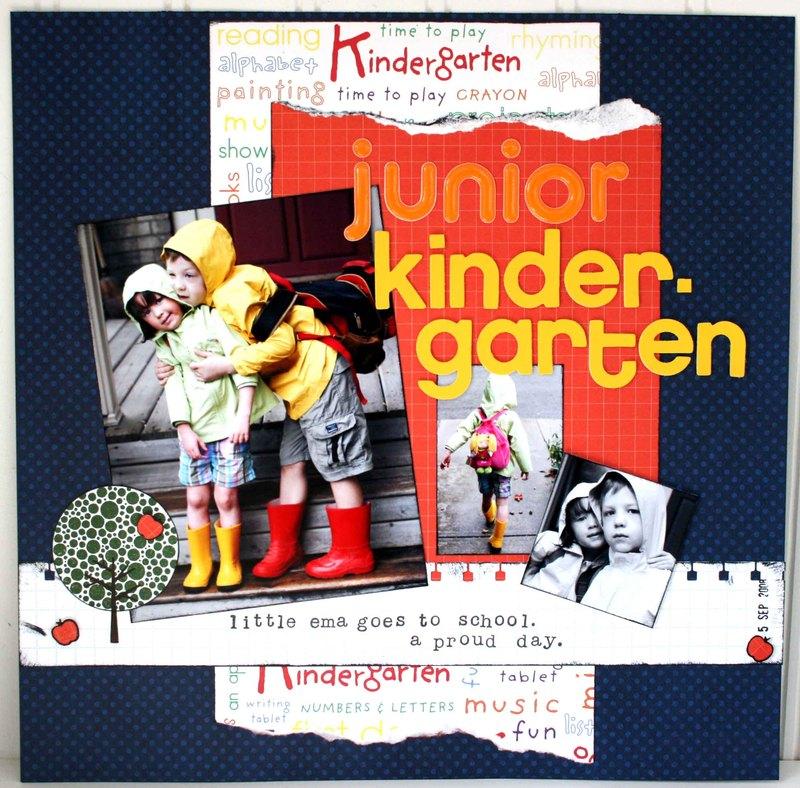 Kindergarten Teacher Scrapbook Paper